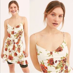 Free People Happy Heart Mini Dress Floral Small